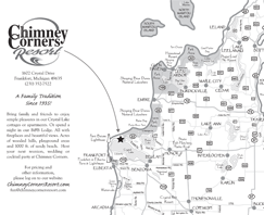 Map to Chimney Corners Resort